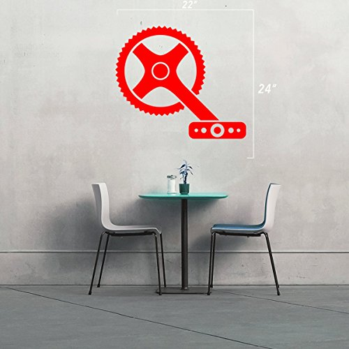 StickAny Wall Series Bike Pedal Sticker for Windows, Rooms, and More! (Red) (9083 Series)