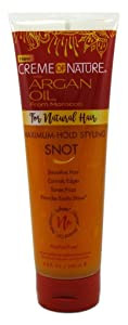 Creme Of Nature Argan Oil Flexible Style Snot Gel 8.4 Ounce (248ml) (3 Pack)