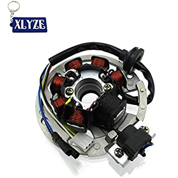 alpha sports wiring diagram amazon com xlyze 7 coil 5 wire magneto stator for eton  amazon com xlyze 7 coil 5 wire magneto stator for eton