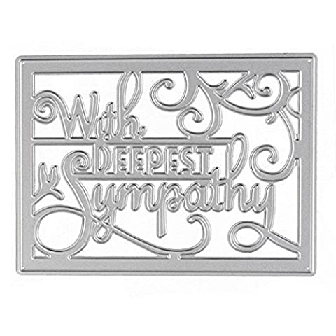 Mikey Store Metal Cutting Dies Stencil DIY Scrapbooking Embossing Album Paper Craft (E) - Binder Scrapbooking Paper