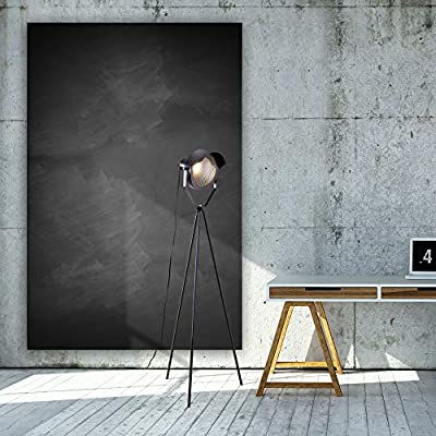 Archiology Kanzo Black Metal Tripod Floor Lamp - Retro, Industrial, Vintage, Mid Century, Rustic, Modern, Contemporary, Adesso, Accent Design for Studio Lights and Bedrooms with Bulb