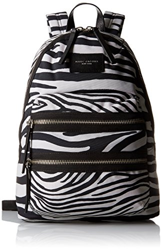 Marc Jacobs Zebra Printed Biker Back pack, Off White/Multi, One Size by Marc Jacobs