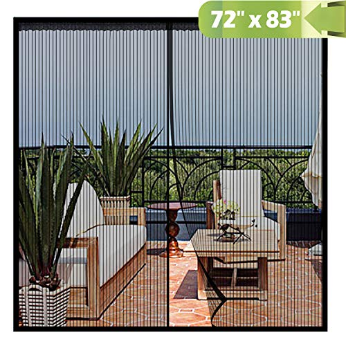 Magnetic Screen Door 72x 83 Inch,Heavy Duty Mesh Curtain Snap Shut Automatically for Patio Sliding Or Large Door (Options Screen Door Patio)