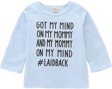 TiTCool Toddler Baby Boys Girls Hooded Sweatshirts Infant Funny Letter Blouse Tops