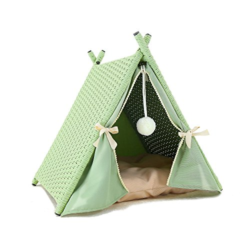 Azure Sky P519 Cat House Tower Rattan Furniture Tent, Green For Sale