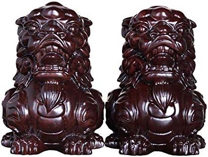 QIBAJIU Esculturas Y Estatuas Estatuas para Jardín Escultura Decoración Dios Bestia Decoración Madera Maciza Caoba Decoración del Hogar Regalos: Amazon.es: Hogar