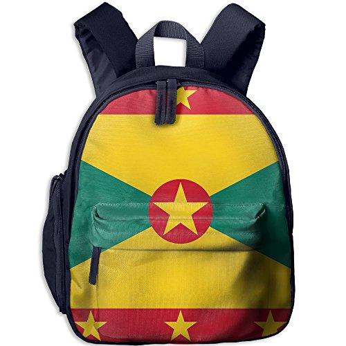 Flag Of Grenada Pattern Lightweight Oxford School Bag Double Zipper Closure Waterproof Travel With Front (Grenada One Light)