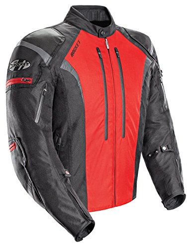 Joe Rocket Atomic Men's 5.0 Textile Motorcycle Jacket (Red, X-Large)
