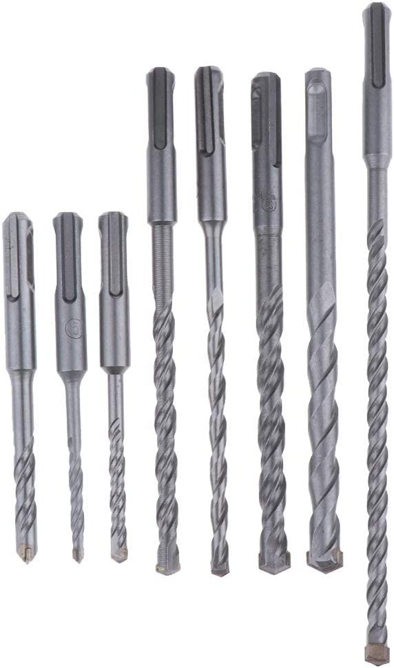 Gulakey 8X Drill Bits Alloy Drill Bits for Concrete Masonry DIY