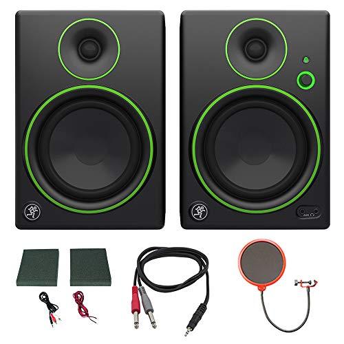 Mackie CR5BT CR Series Channel Studio Monitor (Pair) w/Pro DJ Bundle Includes, 3-feet 1/8