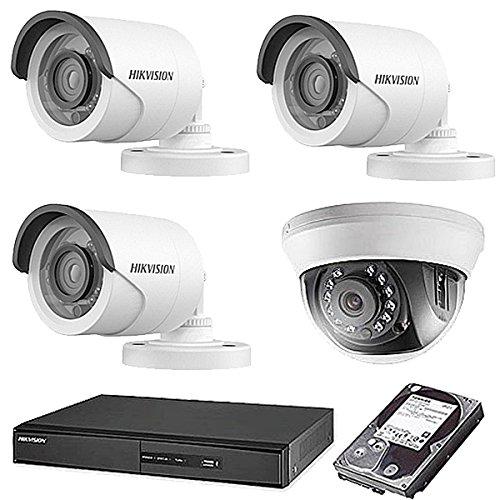 【限定特価】 HIKVISION(ハイクビジョン) 防犯カメラセット 5年保証 監視カメラ × 4台(243万画素フルハイイビジョン)+2TB HDD 監視カメラ セット 屋外内用 屋外内用 小型 スマホ対応 録画機能付き 4CH 防犯カメラ セット 9点セット 日本語マニュアル付き 屋外用3台屋内ドーム1台 TVI-SET6-C4-2TB B074Z6ZT7T, オシャレ総合研究所:8aa6d90f --- trainersnit-com.access.secure-ssl-servers.info