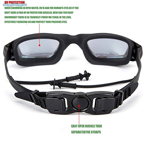 LAPOMI Swimming goggles, Anti ultraviolet, Anti fog, Anti ultraviolet, Fast Release Belt, No Leakage Swimming goggles,Adult Swim goggles