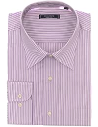 Classic Fit Purple Striped Cotton Dress Shirt