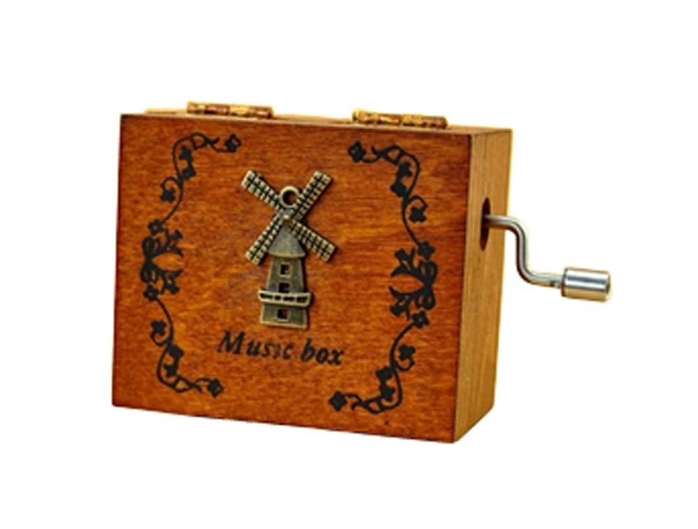 『5年保証』 ボックス誕生日ギフトクリエイティブhand-cranked音楽ボックスMiniレトロ木製音楽 B01K4JLYV0, 紙アラカルトe紙季彩:1724e4e0 --- egreensolutions.ca