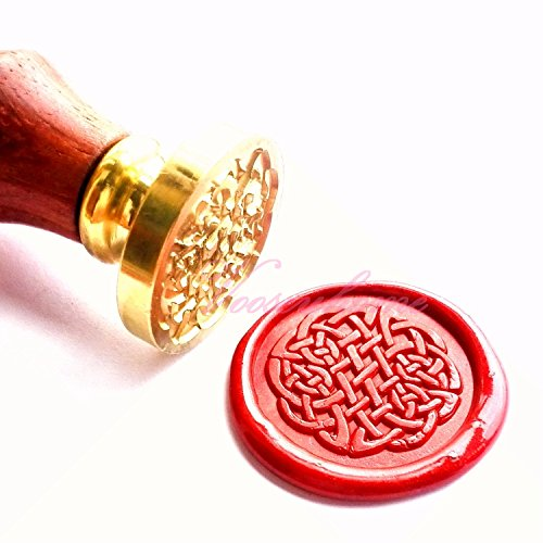 Chinese Seal (Vooseyhome the Red Endless Chinese Knot Wax Seal Stamp with Rosewood Handle)