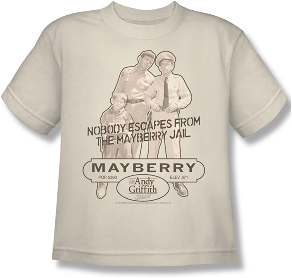 Cbs - Cárcel de Andy Griffith / Mayberry jóvenes Camiseta En Crema, Small (6-8), Cream: Amazon.es: Ropa y accesorios