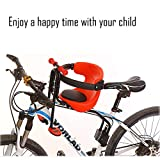 WSBBQ Quick Release Front Mount Child Bicycle Seat Kids Saddle Children Safety Front Seat Saddle Cushion,1Red