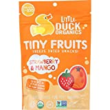 Little Duck Organics Freeze Dried Snacks - Organic - Tiny Fruits - Strawberry Mango - Ages 1 Year Plus - .75 oz - case of 6