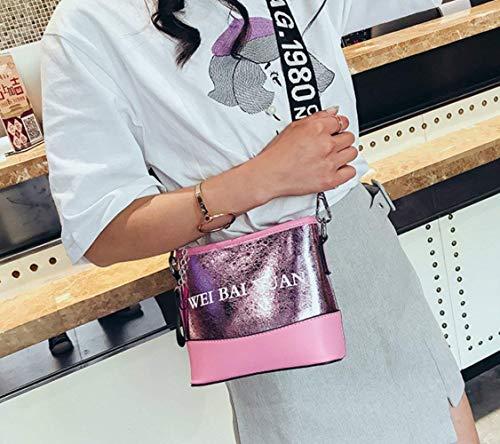 Correa Messenger Gran Laser Solo Trend Lady Hombro color Ajustable Cross Capacidad Rosado Tamaño Bag Letter Shoulder body Ancho Eeayyygch Oro Oq8zxxA