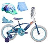16 Inch Huffy Disney Frozen Kids Bike for Girls with Helmet and Cleaner Cloth