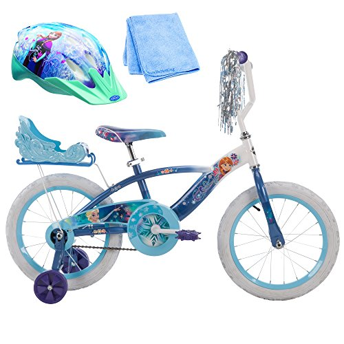 16 Inch Huffy Disney Frozen Kids Bike for Girls with Helmet