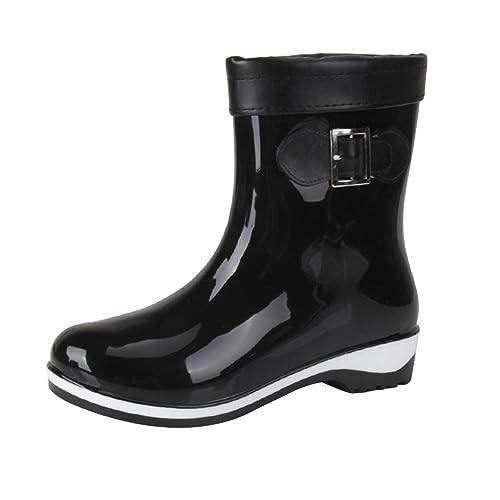 YoungSoul Botas de Lluvia para Mujer - Botas Wellington Cortas - Zapatos Impermeables Botines de Goma: Amazon.es: Zapatos y complementos