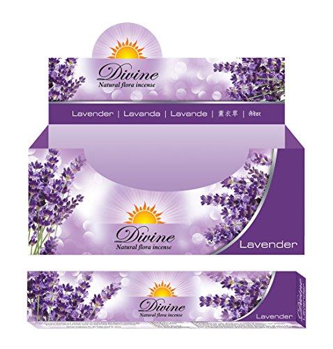 Divine Natural Flora incense(Lavender) 15gramsx12packs by Divine