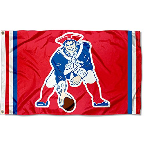 New England Patriots Pat Patriot Vintage (Nfl Throwback Pennant Flag)