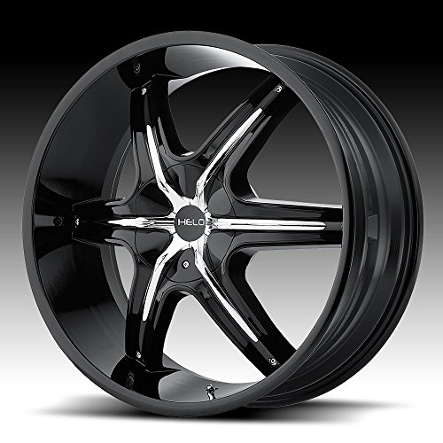 Helo HE891 Gloss Black Wheel Chrome and Gloss Black Accents (20x8.5