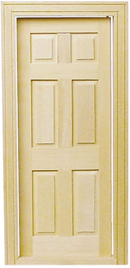 Amazon.com Melody Jane Dollhouse Traditional Wooden 6 Panel Interior Door 112 Miniature Builders DIY Toys u0026 Games  sc 1 st  Amazon.com & Amazon.com: Melody Jane Dollhouse Traditional Wooden 6 Panel ...