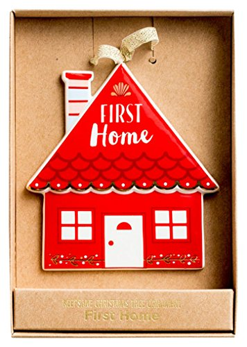 (Christmas Ornament - Porcelain - First Home)