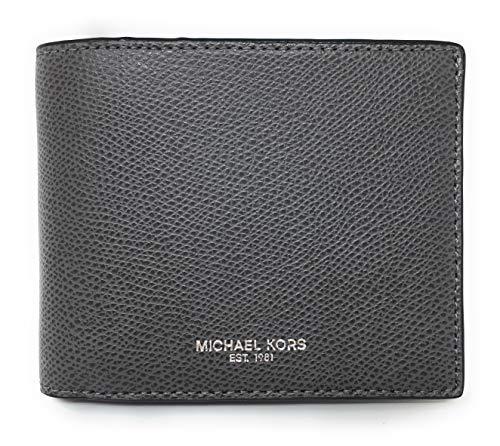 Michael Kors Warren Men's Leather Billfold with Passcase Wallet (Grey)