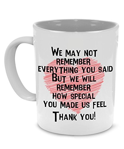 Thank You Teacher Coffee Mug for Retirement, Appreciation Gifts - Printed on Both Sides!