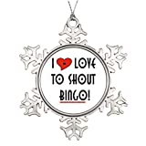 Sedlockyvq Xmas Trees Decorated I Love To Shout Bingo Customized Snowflake Ornaments