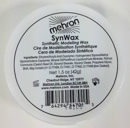 [Mehron Syn Wax Synthetic Modeling Wax, 1.5 oz] (Costume Makeup Wax)