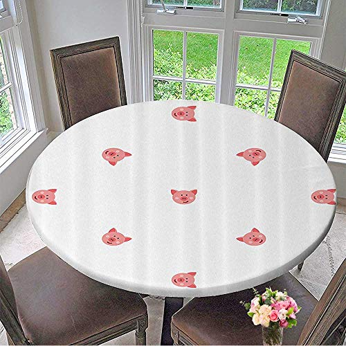 Mikihome Luxury Round Table Cloth for Home use Hayfield Homestead Nature Symmetrical 47.5