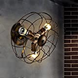 retro wall fan - Industrial Edison Vintage Wall Sconce - LITFAD 12