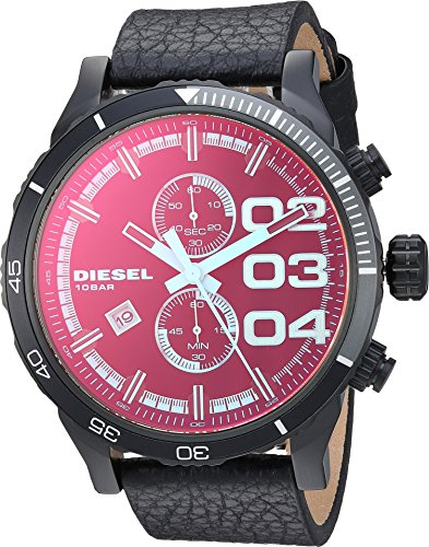 - Diesel Men's DZ4311 Double Down Series Analog Display Quartz Black Watch