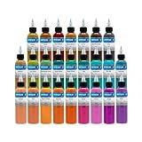Intenze Color Tattoo Ink Sets 1 oz (25 Color Tattoo Ink Set)