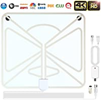 TV Buddy Antenna,2018 New HD Digital TV Antenna Kit-80 Mile Range TV Antenna, Powerful HDTV Amplifier Signal Booster and TV Adapter Support 4K 1080p & All Older TV for Free Channels-Transparent