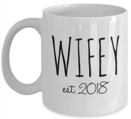 Amazon Wifey Est 2018 Coffee Mug Wedding Gift Under 20 Dollars