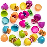 Easter Hunt Eggs Filled With Mini Pull Back Cars 24 Pieces - 2 Inch Assorted Colorful Eggs with Toys – Great Easter Hunt Party Bag Stuffer, Giveaways – Cool And Fun Surprise Easter Eggs – By Kidsco