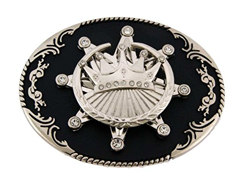 Silver Metal Crown Belt Buckle Cowboy Girly State Texas Usa Style Rodeo Western