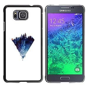 EJOY---Cubierta de la caja de protección la piel dura para el / Samsung ALPHA G850 / --Diamante Triángulo Lobo