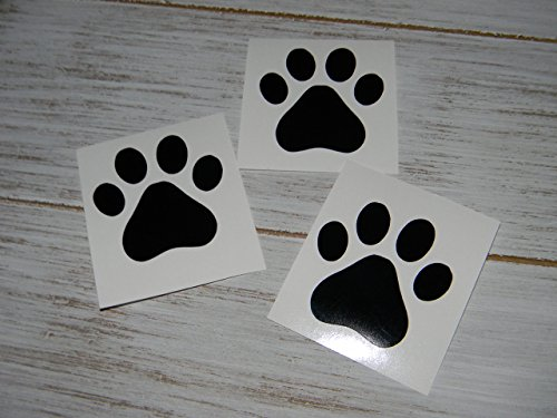 Cat Tumbler Set - Set of 8 Dog Cat Paw Print Tracks Vinyl Decal Sticker Choose Color and Size