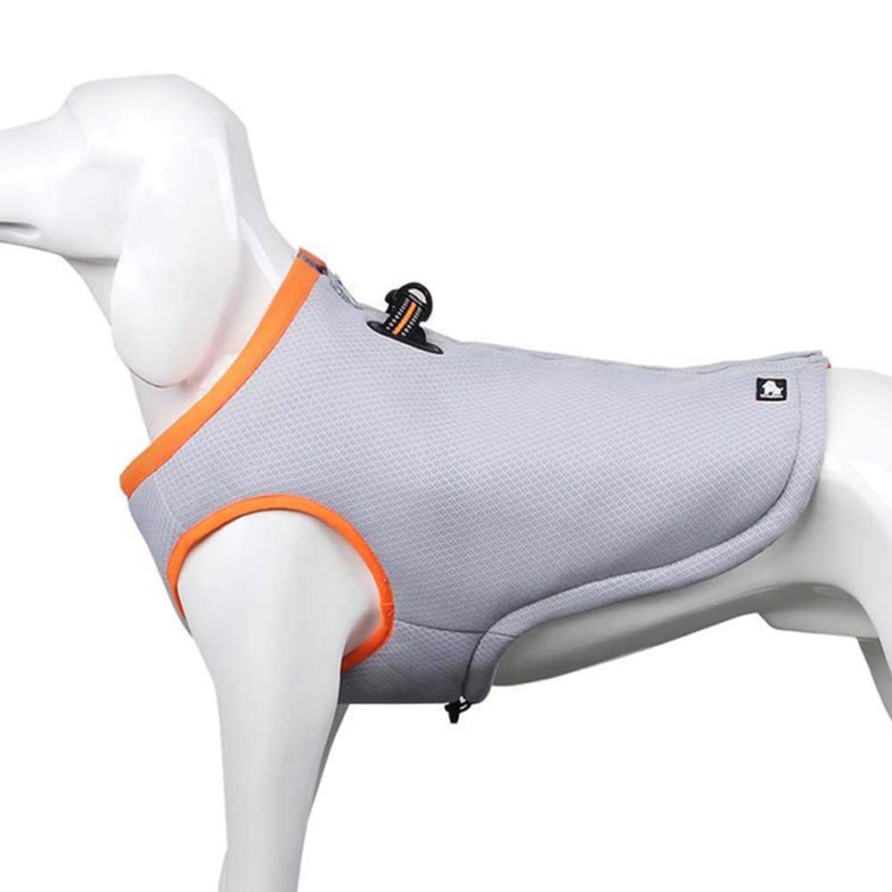 orange XXL orange XXL Dog Cooling Vest Pet Cool Coat Dog Mesh Vest Breathable Cooling Coat Outdoor Anti-Heat Summer Jacket Clothes for Medium and Large Pet Dogs