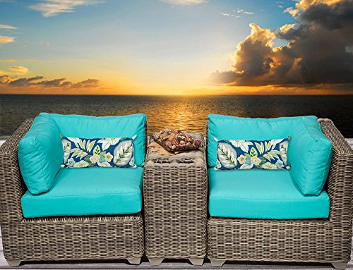 Cape Cod Wicker (TK Classics 3 Piece Cape Cod-03B Outdoor Wicker Patio Furniture Set, Beige)