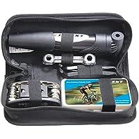 Mini Bike Pump & Tire Puncture Repair Kit &...