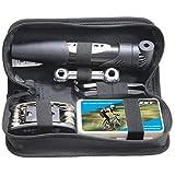 Mini Bike Pump & Tire Puncture Repair Kit & Multi-Function Bike Bicycle Cycling Mechanic Repair Tool Kit & Cycling Bicycle Bike Bag