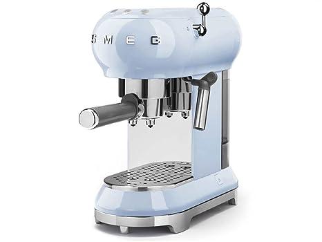 ECF01 - Máquina de café con portafiltro azul pastel/14,9 x 33 x